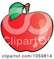 Royalty Free Vector Clip Art Illustration Of A Red Apple