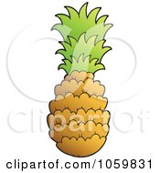 Royalty Free Vector Clip Art Illustration Of A Pineapple by visekart