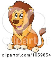 Royalty Free Vector Clip Art Illustration Of A Lion Sitting
