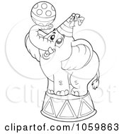 Coloring Page Outline Of A Circus Elephant