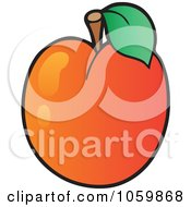 Royalty Free Vector Clip Art Illustration Of An Apricot