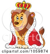 Royalty Free Vector Clip Art Illustration Of A King Lion by visekart