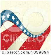 Grungy American Stars And Stripes Background - 3