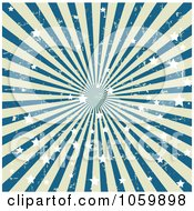 Grungy Blue And Beige Star Burst Background