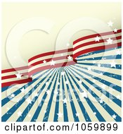 Royalty Free Vector Clip Art Illustration Of A Grungy American Stars And Stripes Background 1