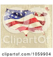 Royalty Free Vector Clip Art Illustration Of A Grungy American Map Background