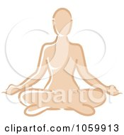 Royalty Free Vector Clip Art Illustration Of A Caucasian Woman Meditating by Rosie Piter