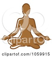 Royalty Free Vector Clip Art Illustration Of A Black Woman Meditating by Rosie Piter