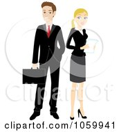 Caucasian Business Man And Woman