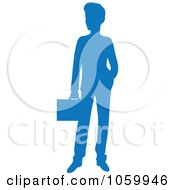 Blue Silhouetted Businessman