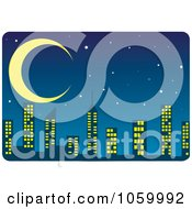 Royalty Free Vector Clip Art Illustration Of A Night Time Skyline