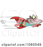 Cartoon Super Cat Flying
