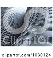 Royalty Free CGI Clip Art Illustration Of A 3d Abstract Textured Tunnel Background