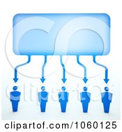 Royalty Free CGI Clip Art Illustration Of 3d Blue People Connected To A Word Balloon by Mopic