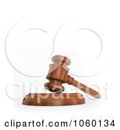 Royalty Free CGI Clip Art Illustration Of A 3d Gavel