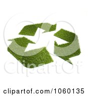 Royalty Free CGI Clip Art Illustration Of A 3d Recycle Symbol Of Grass by Mopic
