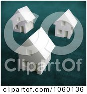 Royalty Free CGI Clip Art Illustration Of 3d White Houses by Mopic