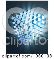 Royalty Free CGI Clip Art Illustration Of A 3d Quantum Computing Background by Mopic
