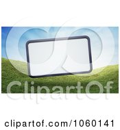 Royalty Free CGI Clip Art Illustration Of A 3d Billboard Over Grassy Hills by Mopic