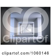 Royalty Free CGI Clip Art Illustration Of A 3d Corridor