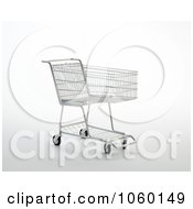Royalty Free CGI Clip Art Illustration Of A 3d Empty Cart by Mopic