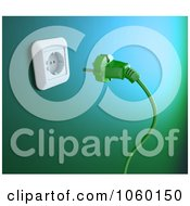 Royalty Free CGI Clip Art Illustration Of A 3d Plug And Outlet
