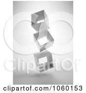 Royalty Free CGI Clip Art Illustration Of 3d Floating Boxes by Mopic