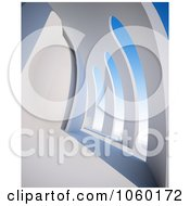 Royalty Free CGI Clip Art Illustration Of A 3d Abstract Wall by Mopic