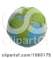 Royalty Free CGI Clip Art Illustration Of A 3d Grassy Earth