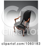 Royalty Free CGI Clip Art Illustration Of A 3d Black Leather Chair by Mopic