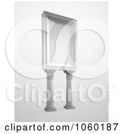Royalty Free CGI Clip Art Illustration Of A 3d Billboard With Columns by Mopic
