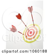 Royalty Free CGI Clip Art Illustration Of A 3d Dartboard