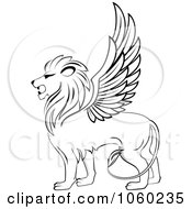 Black And White Winged Lion Logo 2