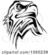 Royalty Free Vector Clip Art Illustration Of A Black And White Eagle Logo
