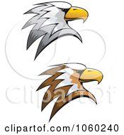 Royalty Free Vector Clip Art Illustration Of A Digital Collage Of Eagle Head Logos 2