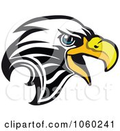 Royalty Free Vector Clip Art Illustration Of An Eagle Head Logo 9 by Vector Tradition SM #COLLC1060241-0169