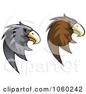 Royalty Free Vector Clip Art Illustration Of A Digital Collage Of Eagle Head Logos 3