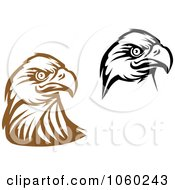 Royalty Free Vector Clip Art Illustration Of A Digital Collage Of Eagle Head Logos 5