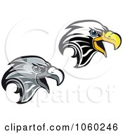 Royalty Free Vector Clip Art Illustration Of A Digital Collage Of Eagle Head Logos 4