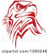 Royalty Free Vector Clip Art Illustration Of A Red Eagle Logo