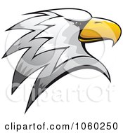 Royalty Free Vector Clip Art Illustration Of An Eagle Head Logo 3 by Vector Tradition SM #COLLC1060250-0169