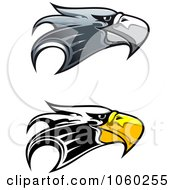 Royalty Free Vector Clip Art Illustration Of A Digital Collage Of Eagle Head Logos 1