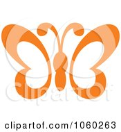 Royalty Free Vector Clip Art Illustration Of An Orange Butterfly Logo 1