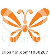 Royalty Free Vector Clip Art Illustration Of An Orange Butterfly Logo 6