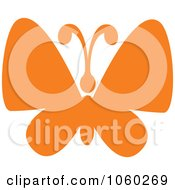 Royalty Free Vector Clip Art Illustration Of An Orange Butterfly Logo 7