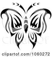 Royalty Free Vector Clip Art Illustration Of A Black And White Butterfly Logo 3