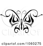 Royalty Free Vector Clip Art Illustration Of A Black And White Butterfly Logo 8