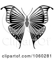 Royalty Free Vector Clip Art Illustration Of A Black And White Butterfly Logo 9