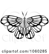 Royalty Free Vector Clip Art Illustration Of A Black And White Butterfly Logo 12