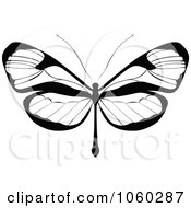 Royalty Free Vector Clip Art Illustration Of A Black And White Butterfly Logo 17